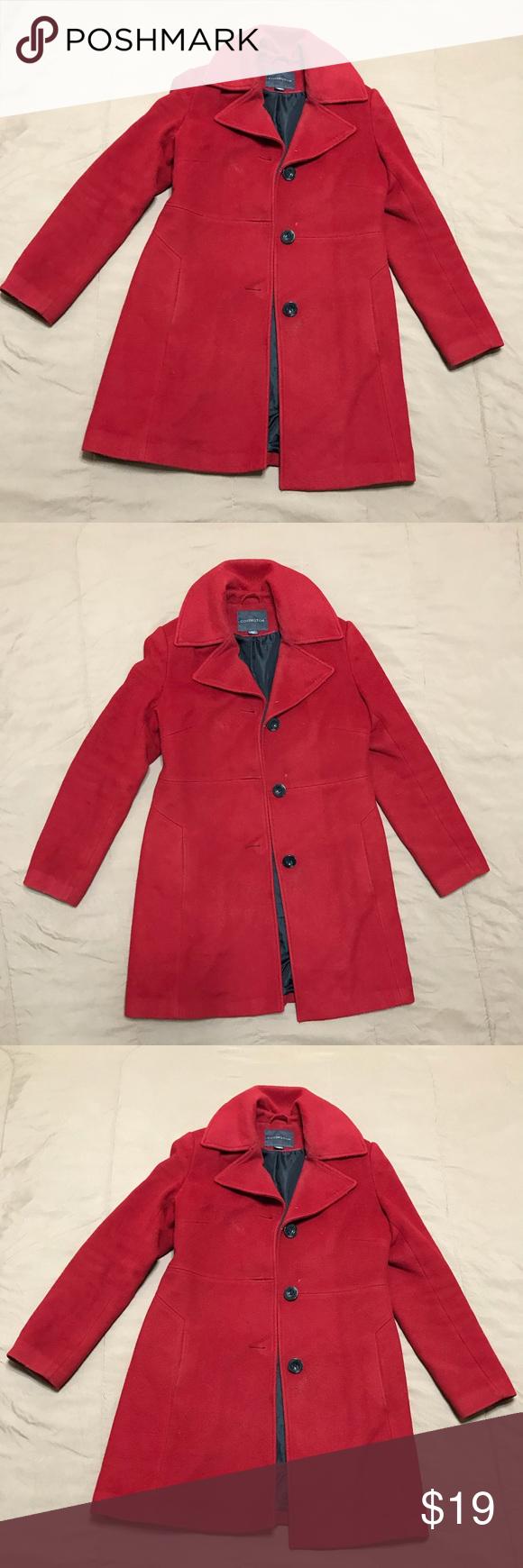 Women S Red Coat Like New Covington Jackets Coats Pea Coats Red Coat Red Leather Jacket Coat [ 1740 x 580 Pixel ]