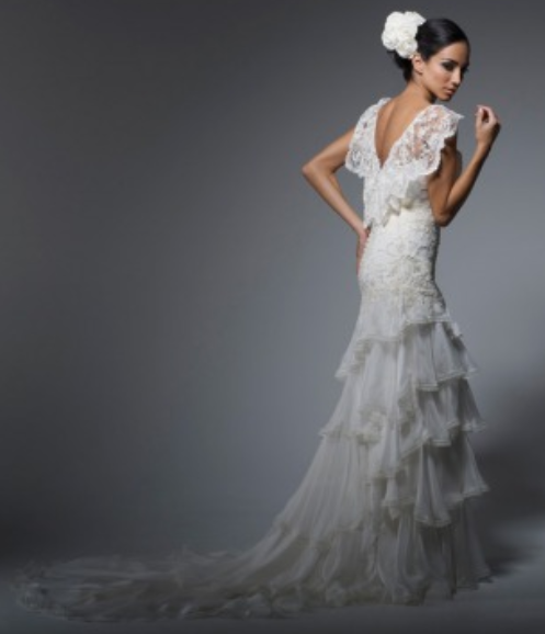 Flamenco wedding dress bridal looks pinterest for Flamenco style wedding dress