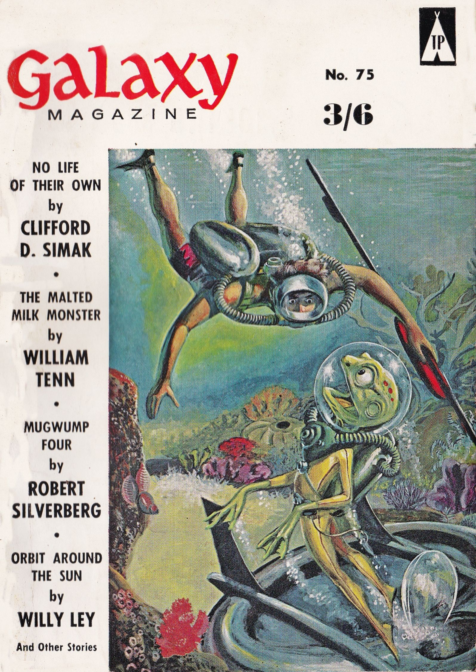 Galaxy Science Fiction No 75 British Edition Cover Art By Wally