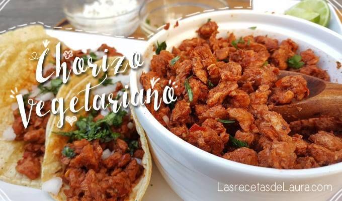 Chorizo Vegetariano De Soya Receta Recetas Con Chorizo Comida Fitness Recetas Comida Vegana