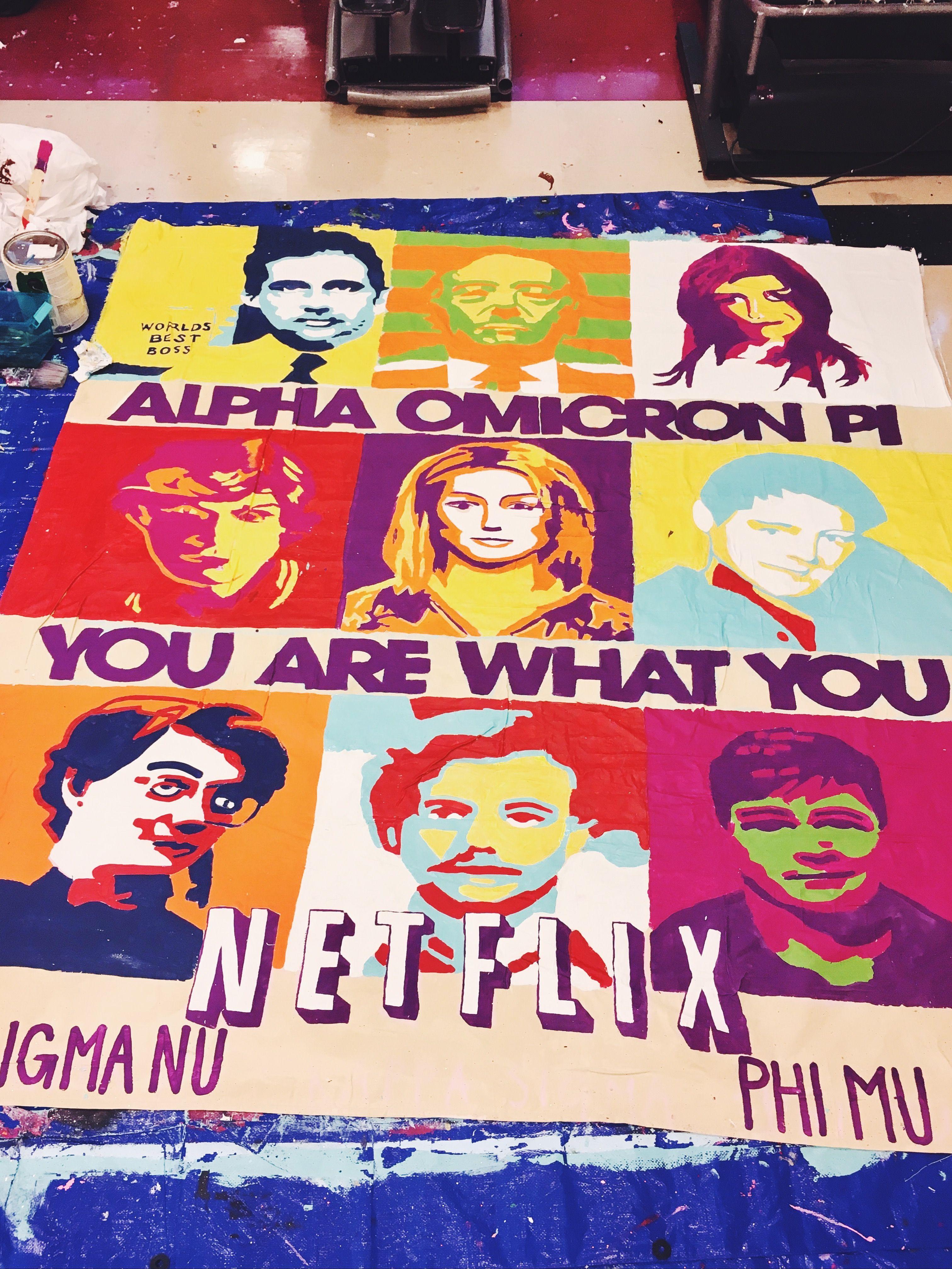 university of arkansas alpha omicron pi aoii sorority banner