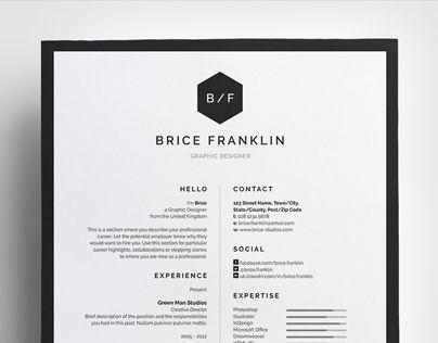 Consultez ce projet @Behance: \u201cResume/CV - 'Brice'\u201d https://www.behance.net/gallery/23891763/ResumeCV-Brice