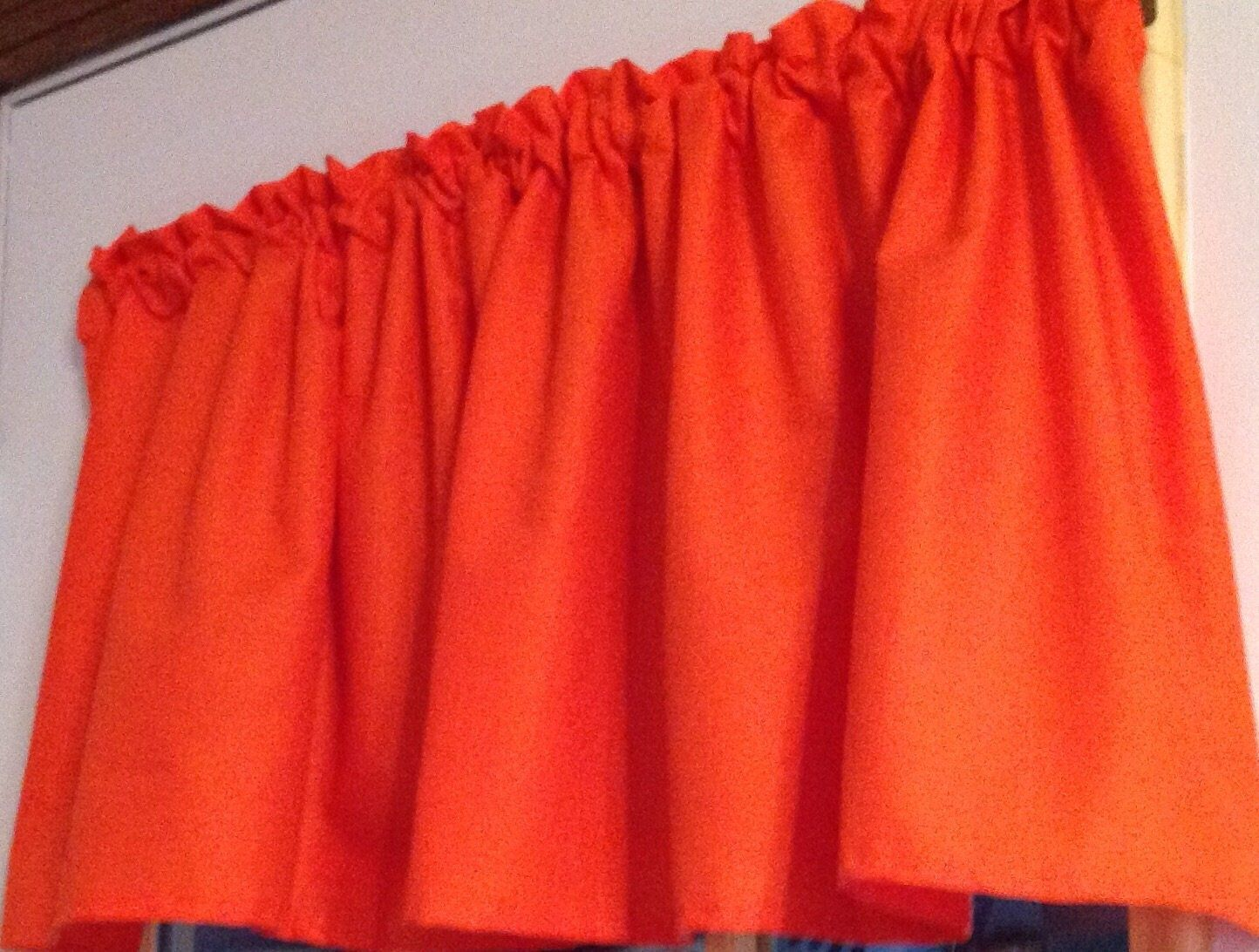 "52"" wide x 15"" long window curtain valance made from cotton solid"