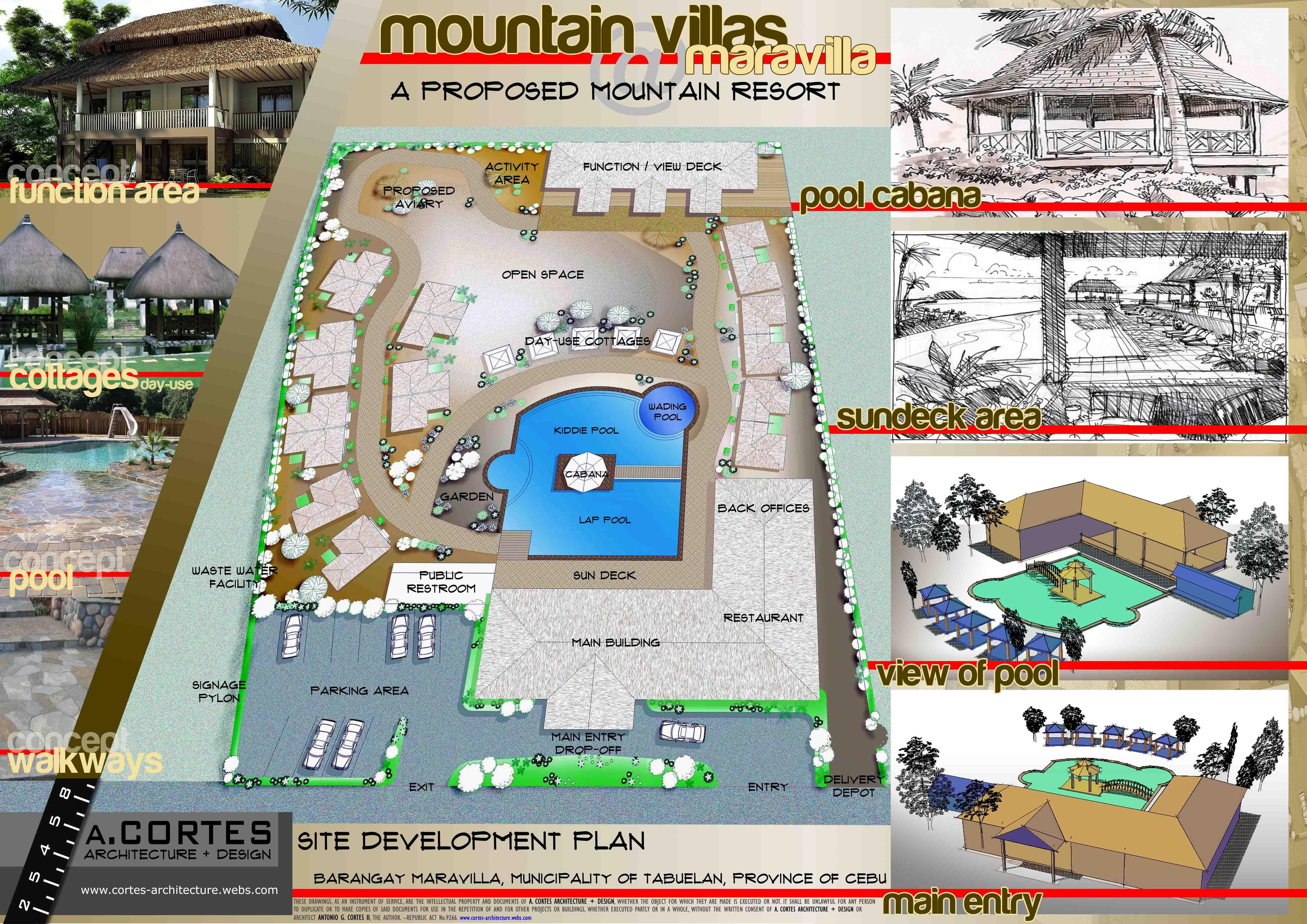 Site Development Plan For A Proposed Mountain Resort Site Development Plan Mountain Resort Site Plan