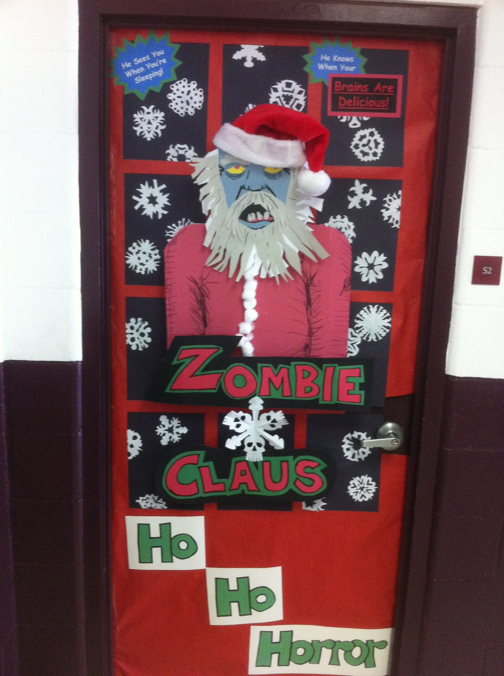 cute christmas door decorations
