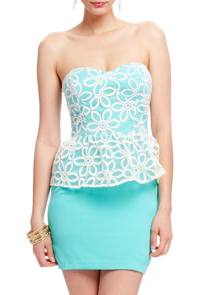 2b by bebe Paola Peplum Dress    $39.95