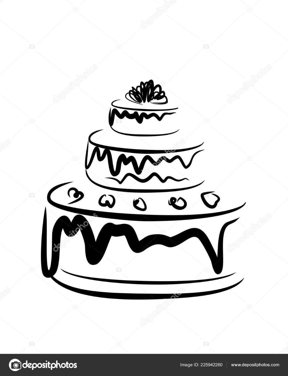 cake clipart black and white Google Search Elegant