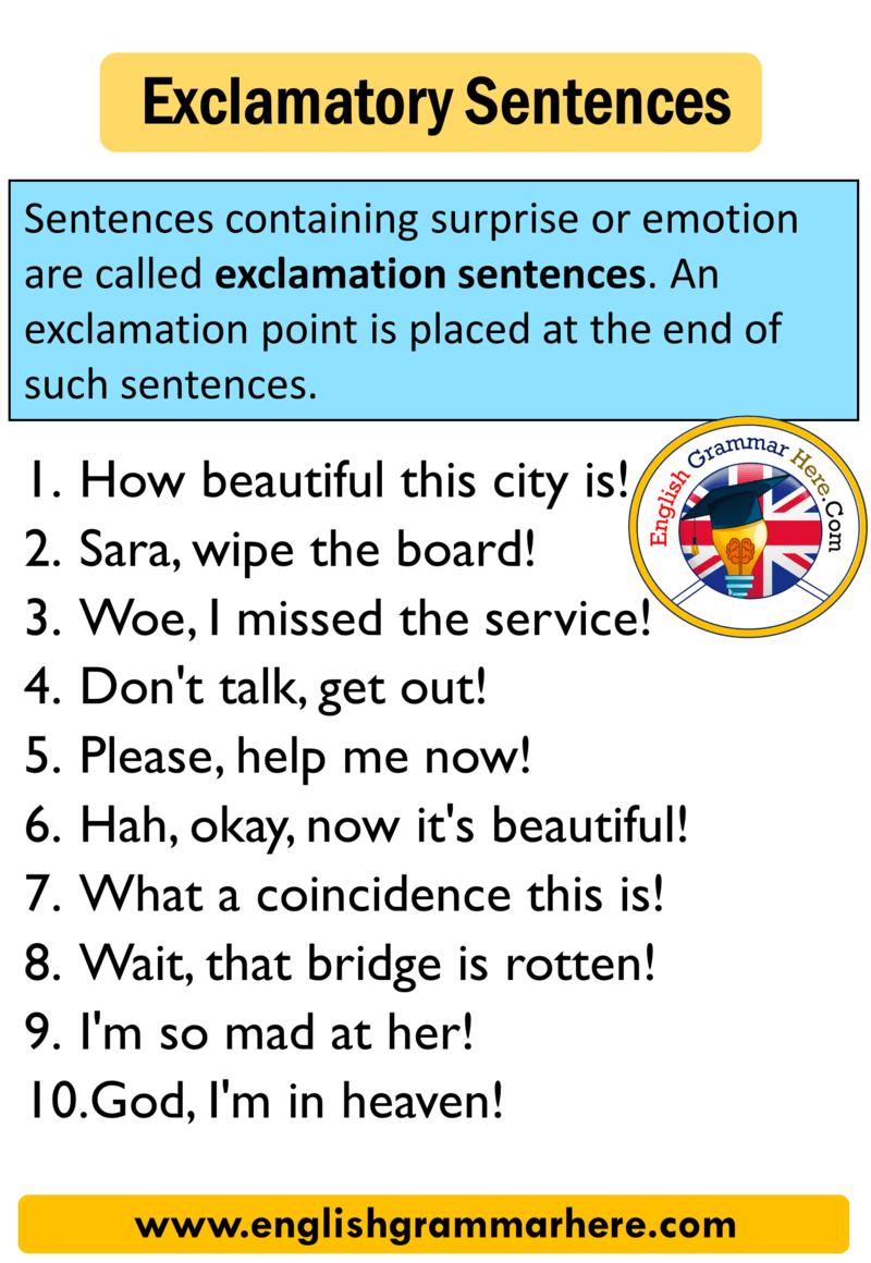 Pin on Exclamatory Sentences