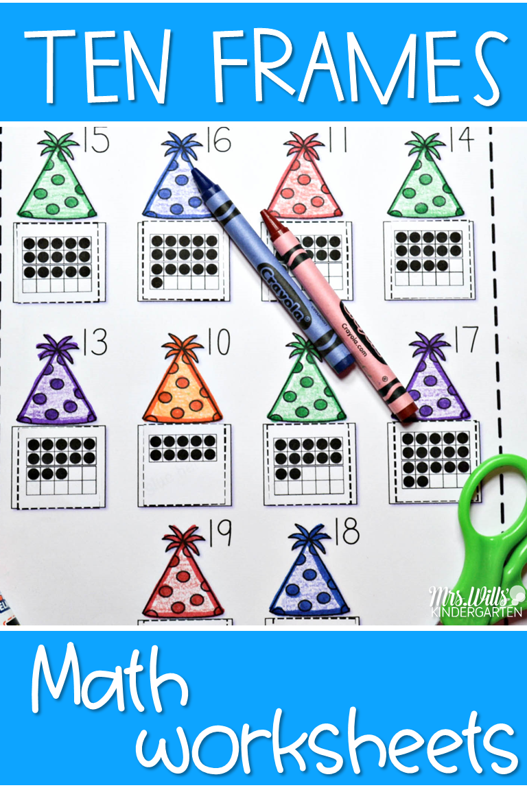 Predownload: 10 Frame Math Worksheets Where Students Work With Counting And Recording The Amount Kindergarten Math Printables Kindergarten Math Kindergarten Math Homework [ 1152 x 768 Pixel ]