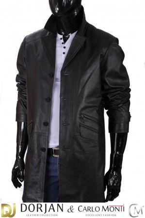 Płaszcz skórzany męski DORJAN ERK450 | Płaszcze, Męskie