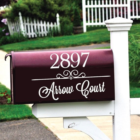 Mailbox Numbers Letter Decals Mailbox Decals Vinyl By Luxeloft