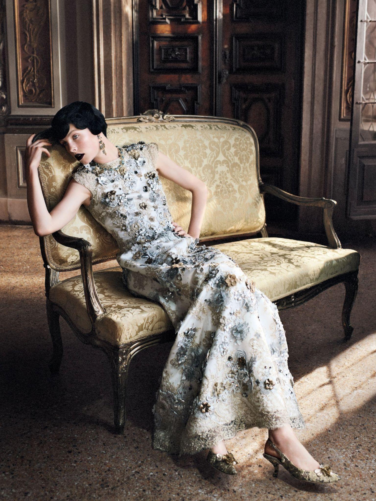 Dolce & Gabbana Alta Moda // Grace Coddington // David Sims // Edie Campbell // Vogue US September 2013