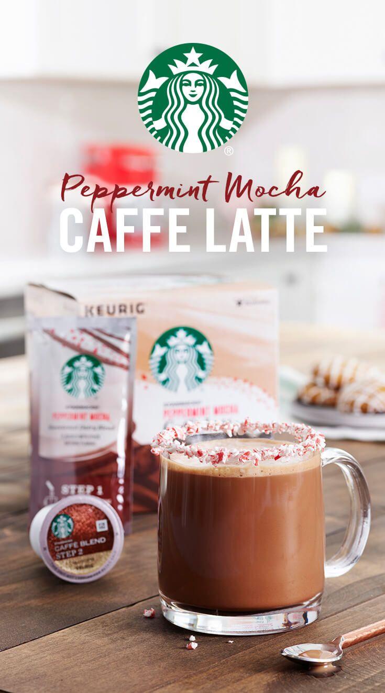 Starbucks Peppermint Mocha Caffe Latte K Cup Pods Host