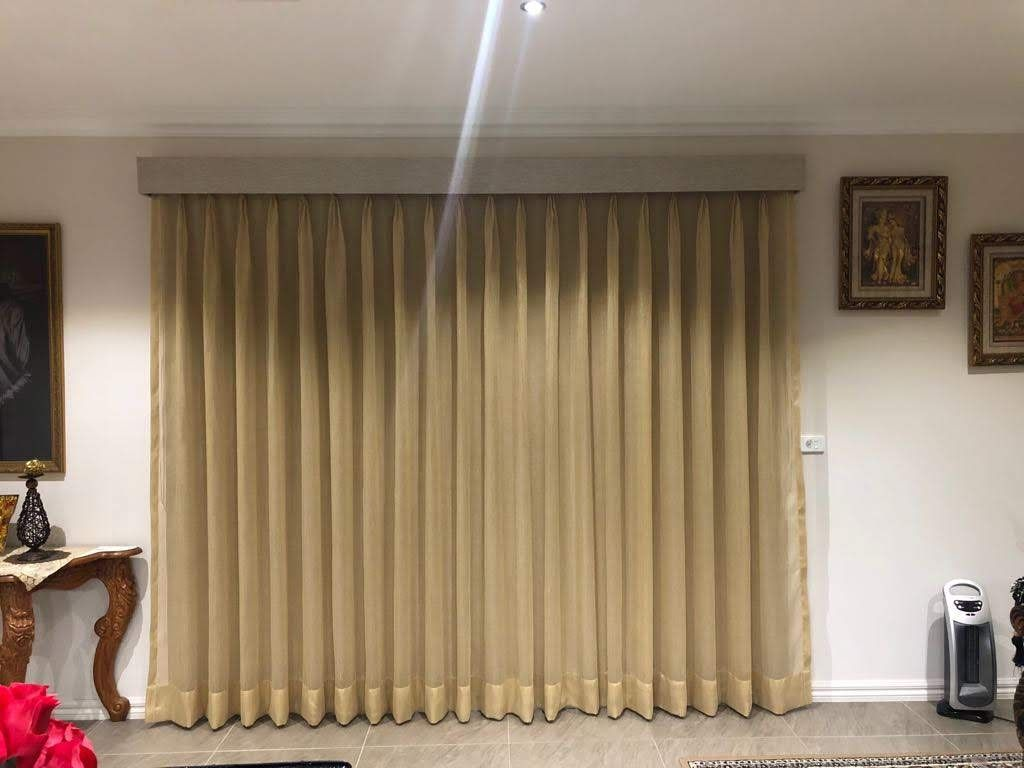 Sheer Curtains With Pelmet And Roller Blinds Done By