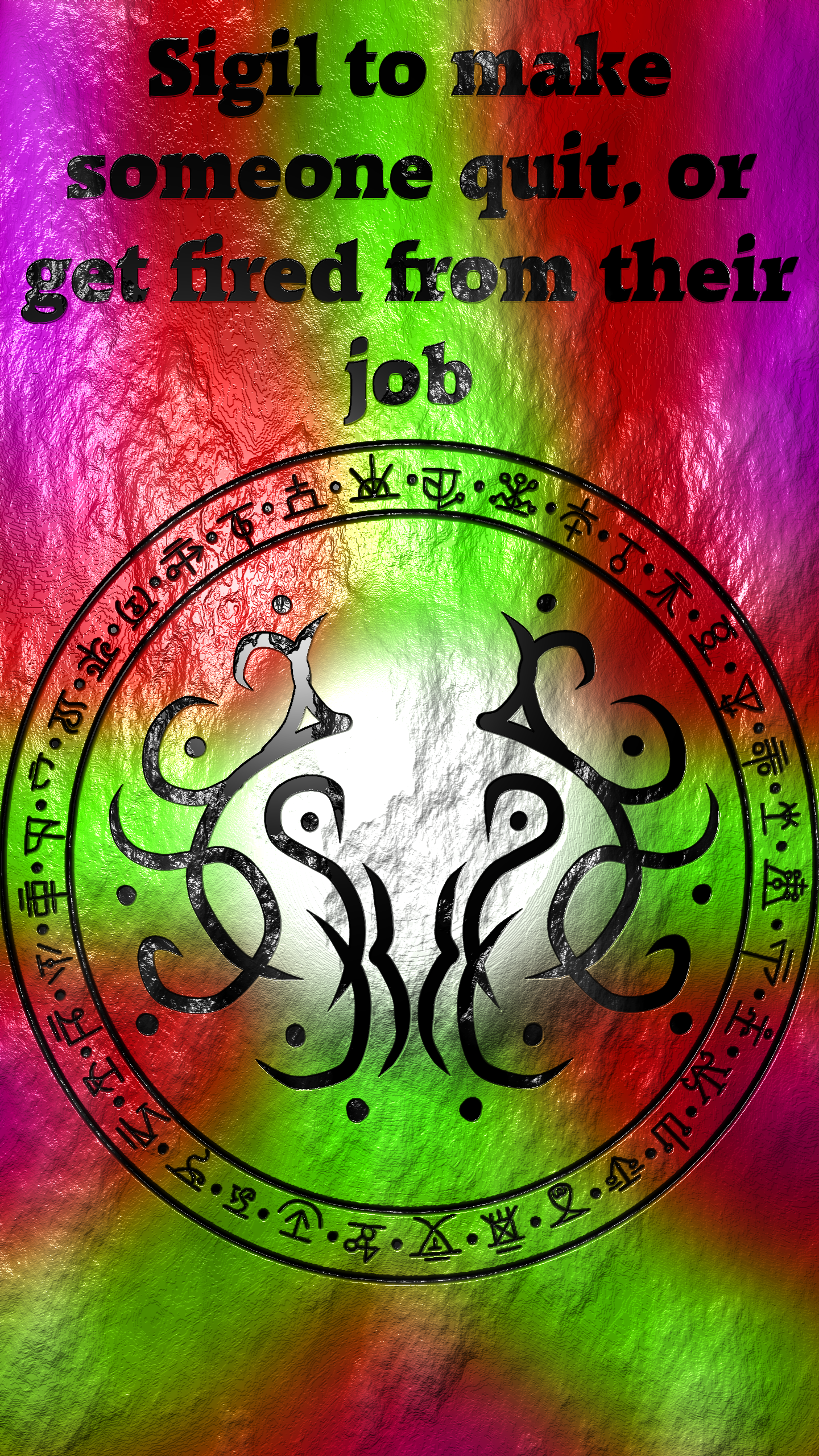 Sigil To Make Someone Quit Or Get Fired From Their Job In 2020 Sigil Wiccan Symbols Occult