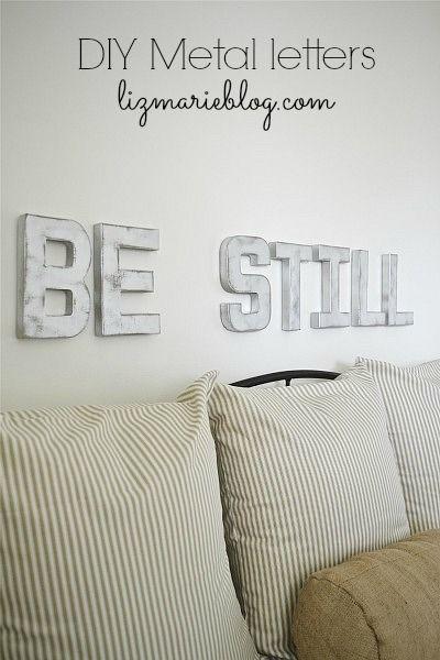 Photo of DIY Metallbuchstaben – Seien Sie still und wissen Sie.