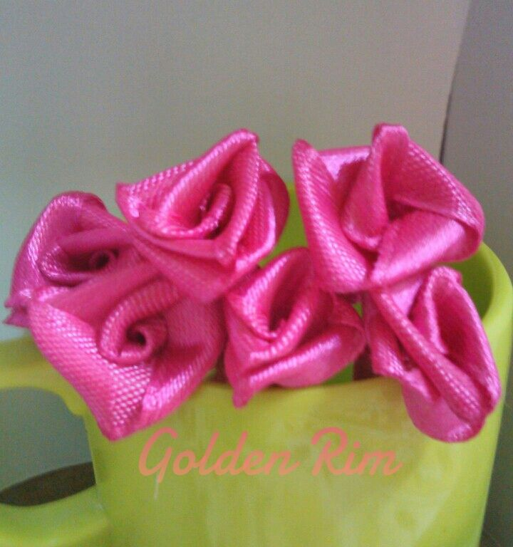 How To Make Satin Ribbon Flowers #ribbonflower