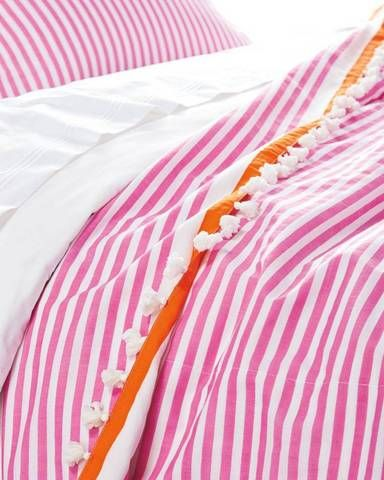 35 Best Spring Decorations For The Home Domino Candy Stripes Orange Bedding Striped Bedding