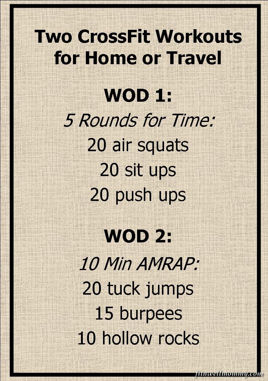 Two simple CrossFit WODs for home or travel | CrossFit and Fitness ...