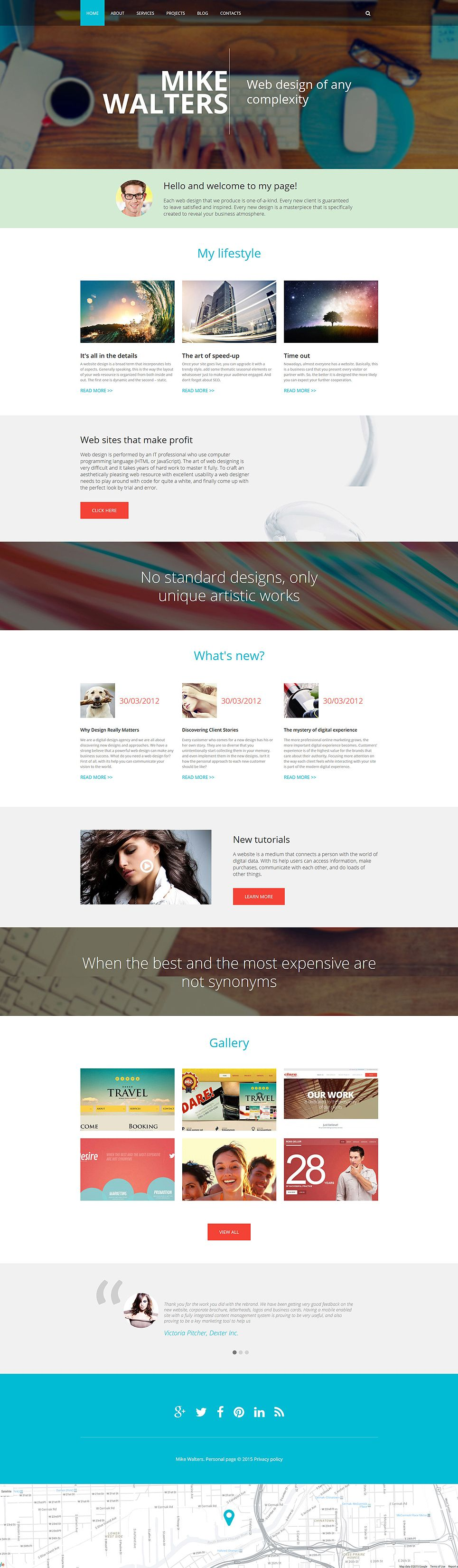 personal page drupal template 55363  templatemonster