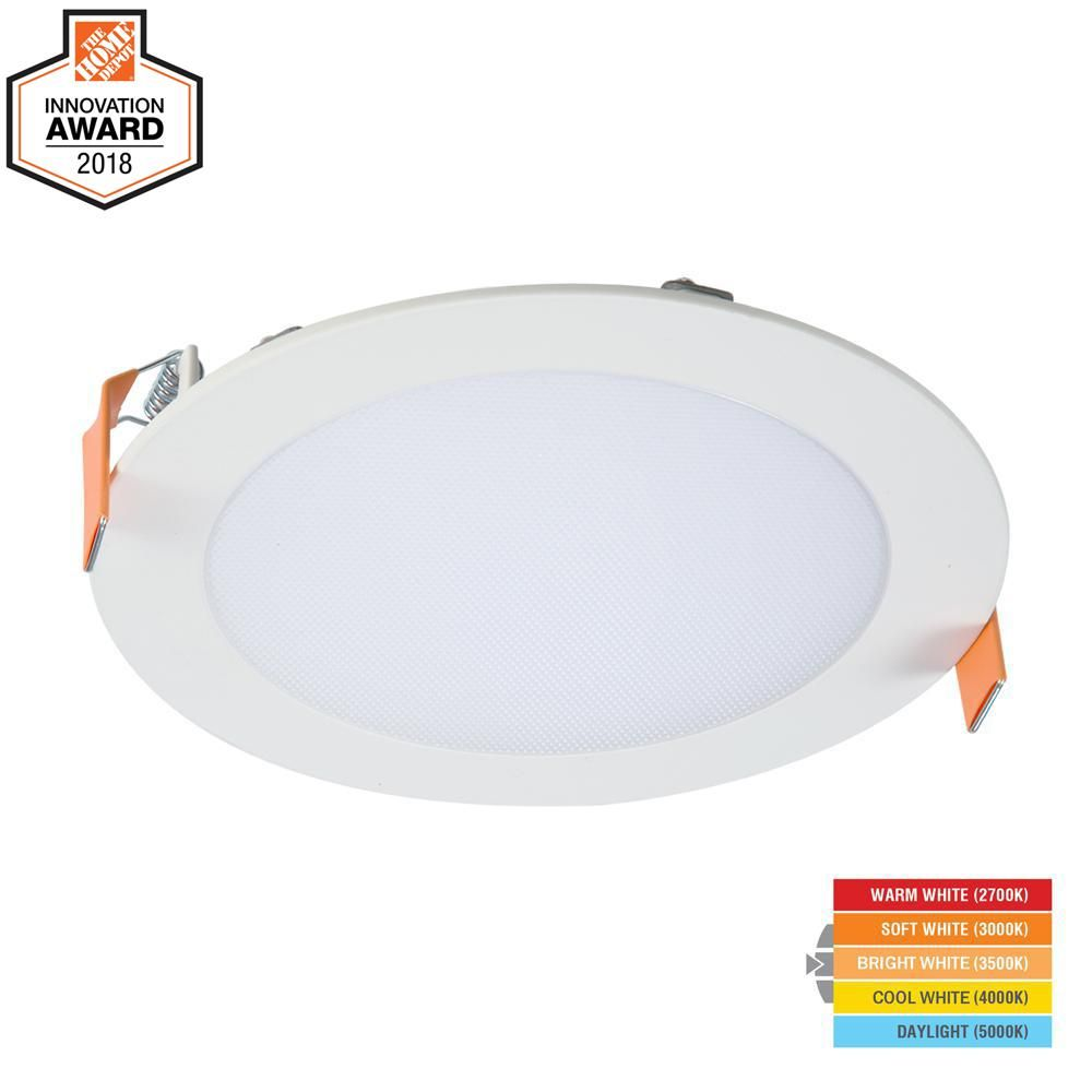 Halo Hlb 6 In Selectable Cct New Construction Or Remodel Canless Recessed Integrated Led Kit Hlb6099fs1emwr Direct Lighting Kitchen Design Open Led
