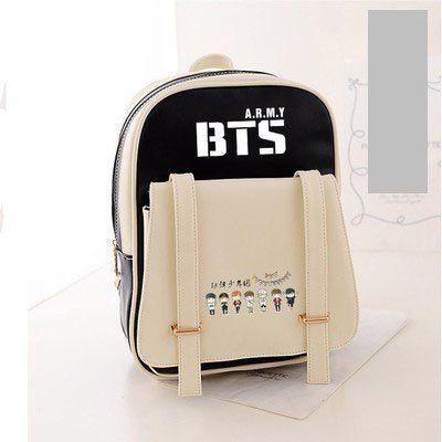 KPOP BTS Bangtan Boys v jimin junkook Support PU backpack (black) I NEED  THIS!!