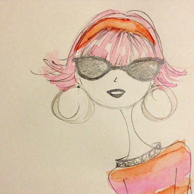 A girl can dream. #summer #fashion #sketch