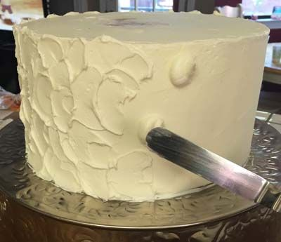 icing techniques for wedding cakes rustic frosting when i use this technique i start out 16275
