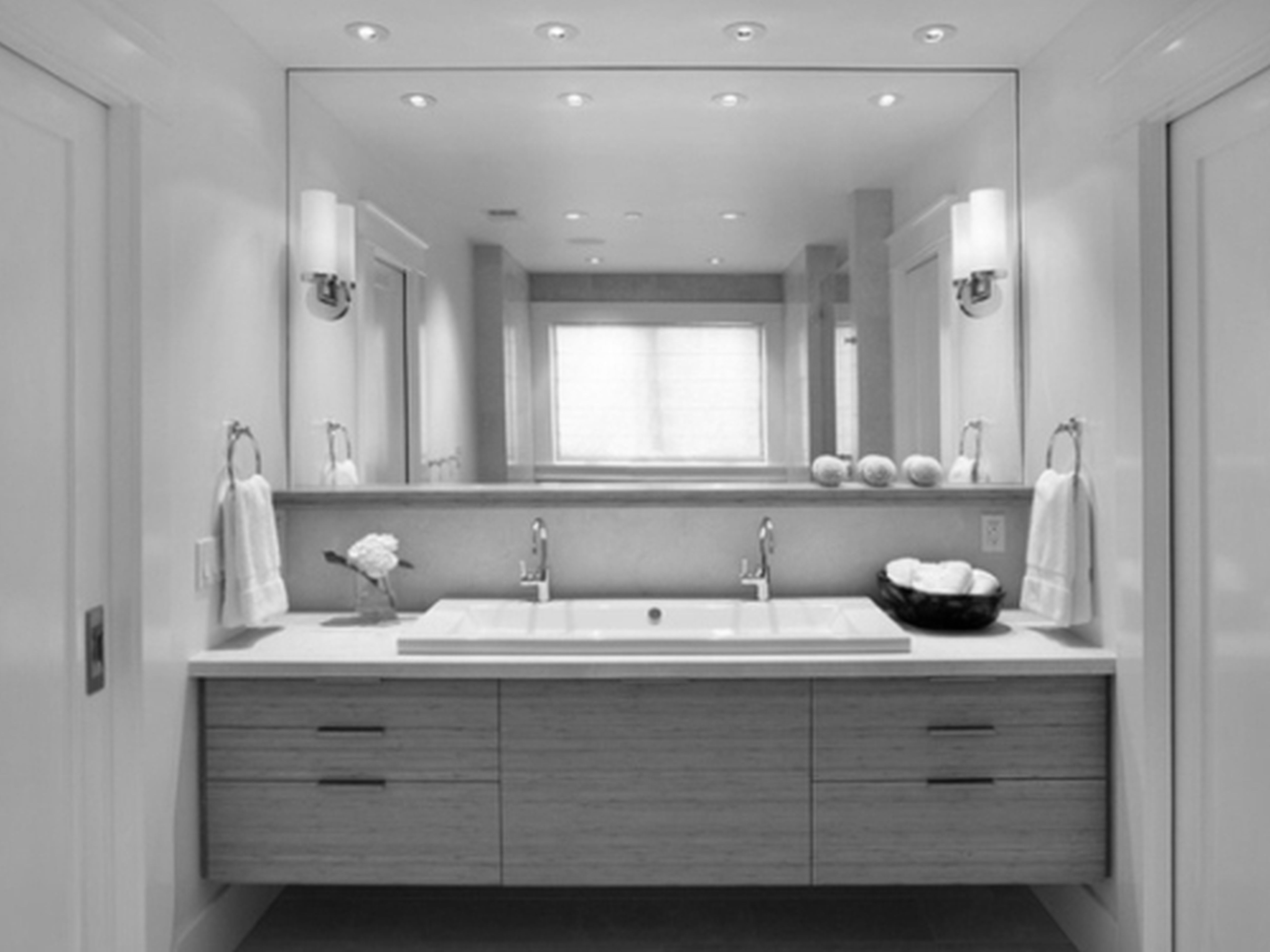 Bathroom Incredible Scenic White Porcelain Rectangle