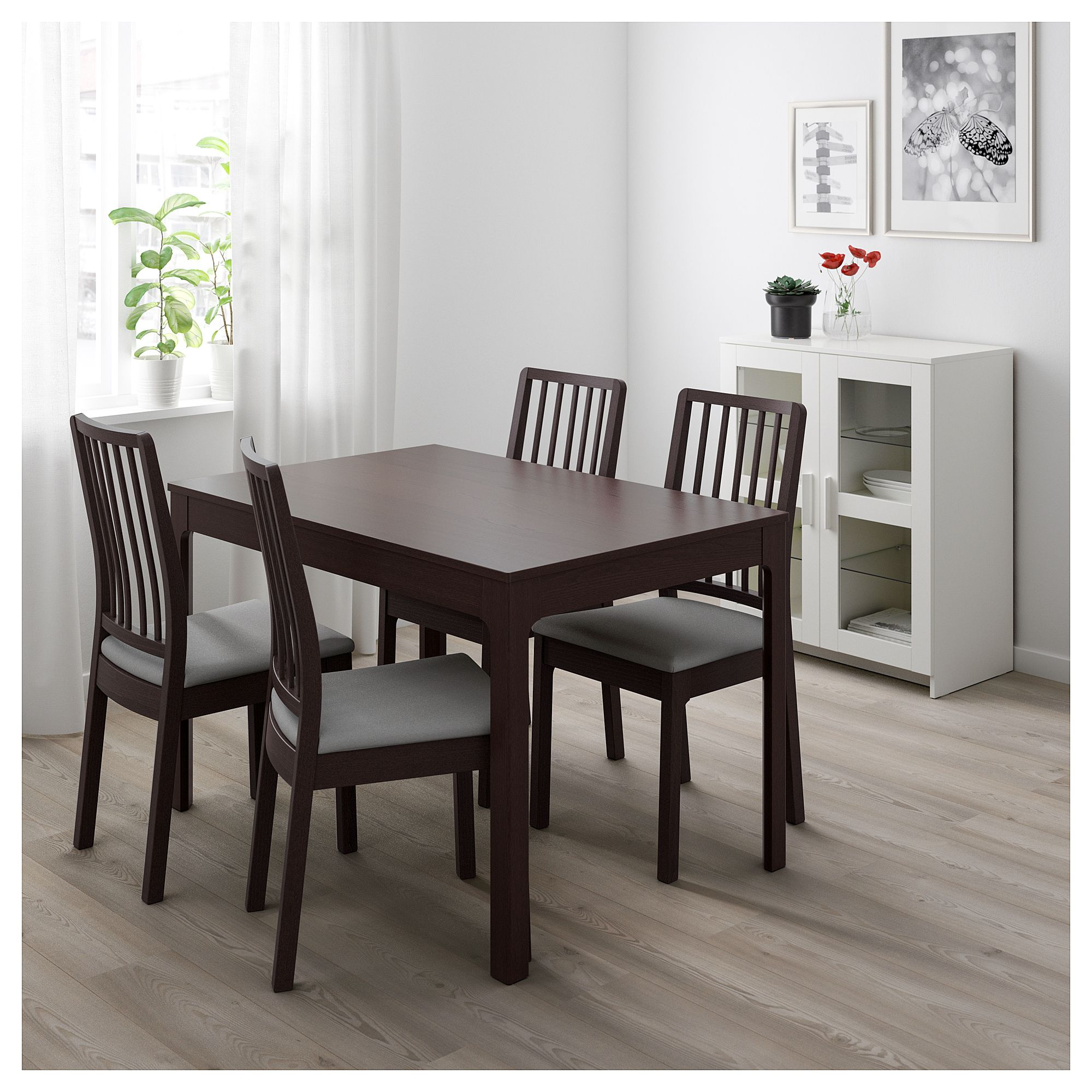 IKEA EKEDALEN Extendable table dark brown Ikea