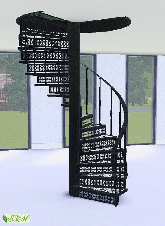 Forged Steel Spiral Staircase By Simmami At Sims 3