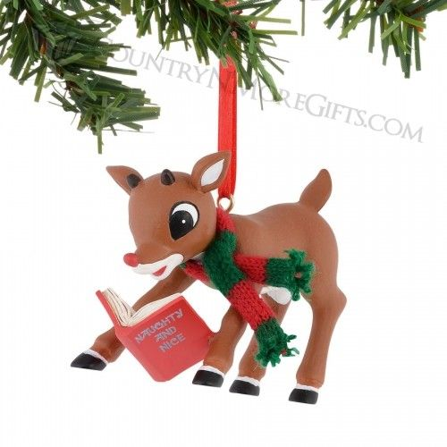department 56 rudolph reading ornament - Rudolph And Friends Christmas Decorations