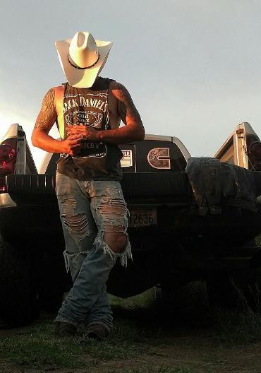 Guys in hats outdoor screwing