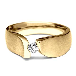 Anel Solitario em Ouro Amarelo - LEAF   anel b476795d65