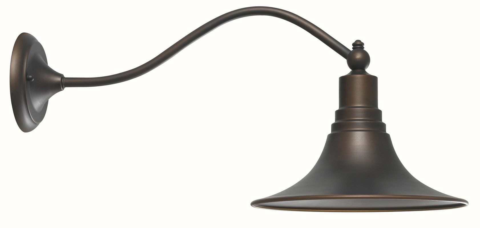 """World Imports WI909786 Antique Copper 1 Light 9.75"""" Height Outdoor Wall Sconce from the Dark Sky Kingston Collection, 125, extends 22"""""""