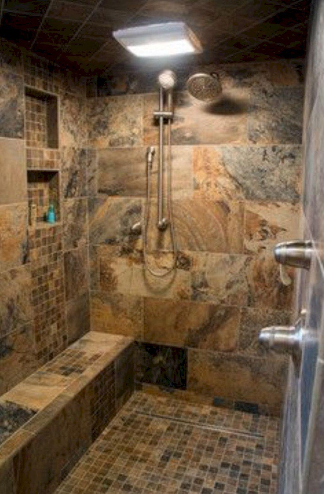 24 Top Doorless Shower Design for Small Bathroom Ideas