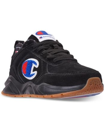 da1dfe172 Champion Boys  93Eighteen Suede Chenille Athletic Training Sneakers from Finish  Line - Black 5.5