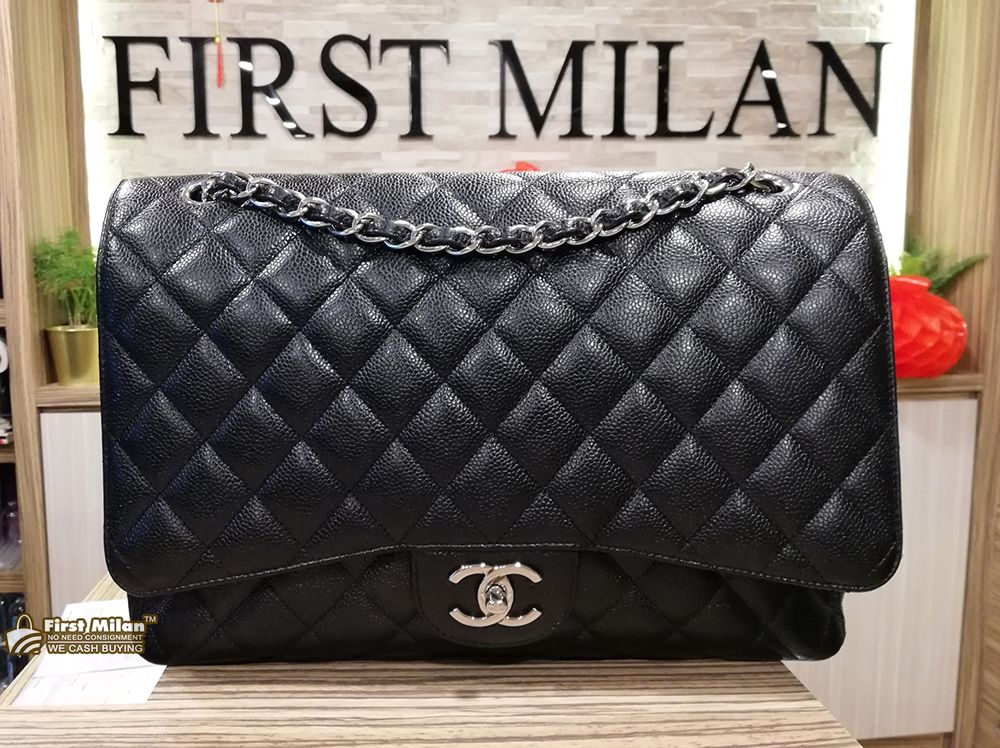 4f62f353f4a1 CHANEL Maxi Caviar Double Flap Bag (SHW) Price RM17,880 | CHANEL in ...