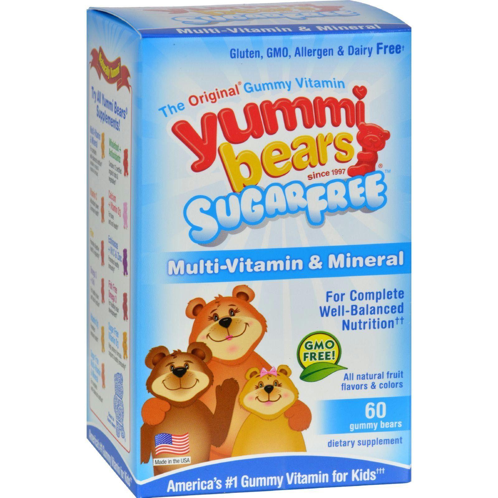 Hero Nutritionals Yummi Bears Multi Vitamin And Mineral Sugar Free 60 Yummi Bears Vitamins For Kids Sugar Free Childrens Vitamins