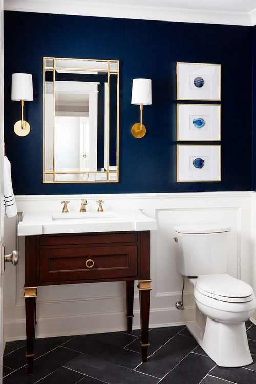 We Ve Got The Blues How To Use The World S Favorite Color In Every Room In Your Home Small Bathroom Decor Tiny House Bathroom Bathroom Decor