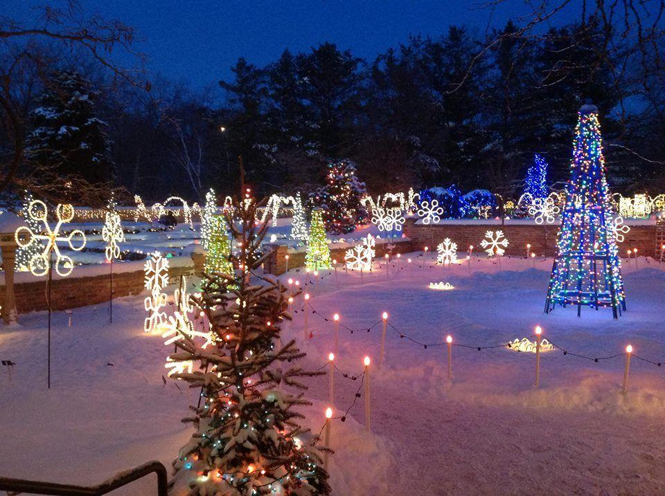 Rotary Gardens Janesville Wi Christmas Winter 2013