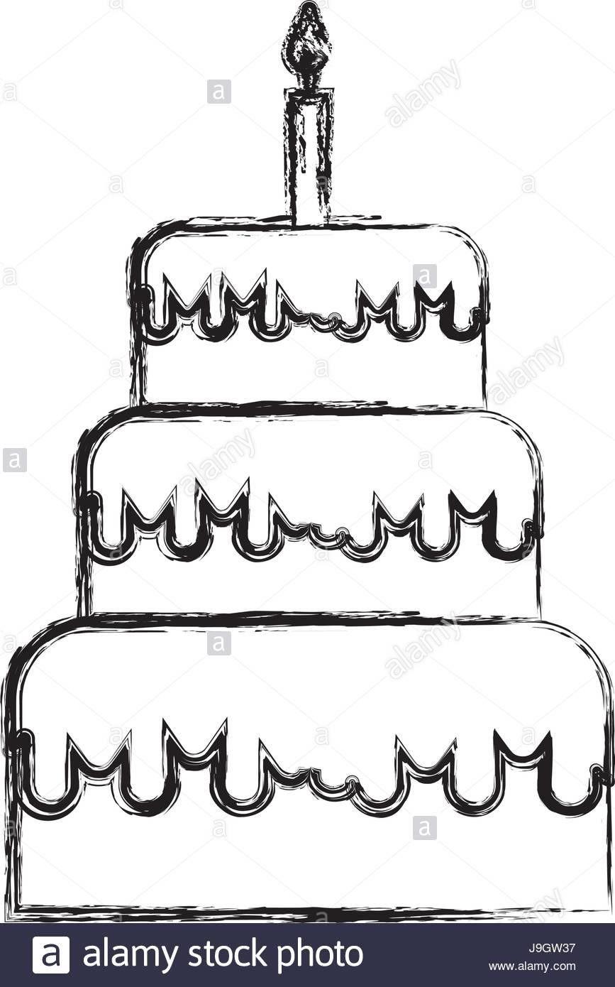 Geburtstag Bilder Zeichnen Geburtstag Geburtstagbilderzeichnen Cake Drawing Cartoon Birthday Cake Birthday Cake Illustration