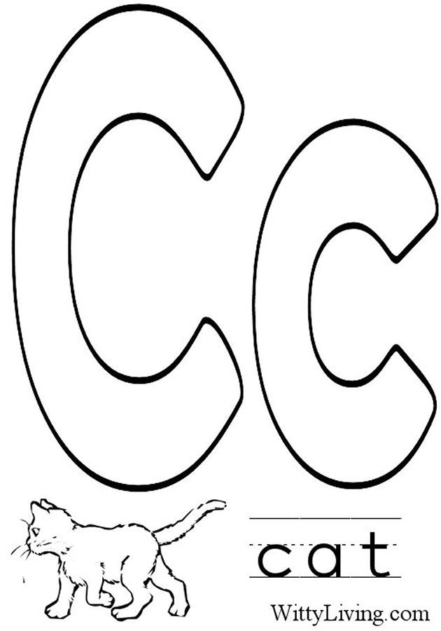 Coloring Pages Letter C Kids Crafts For Kids To Make With