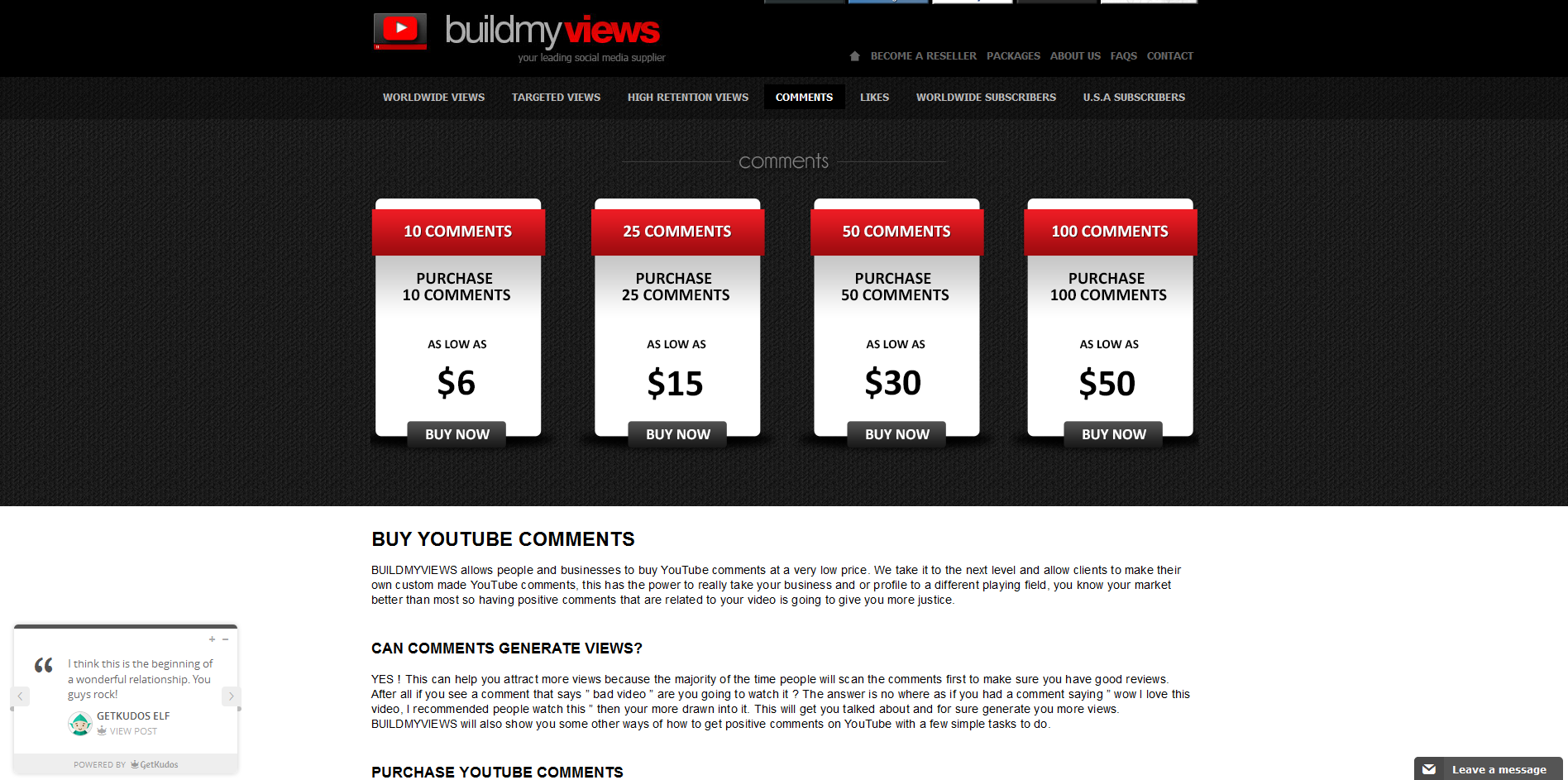 buy youtube comments build my views http buildmyviews org