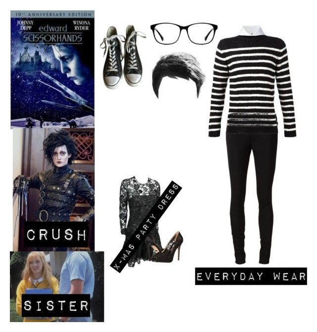 """Me in Edward Scissorhands"" by potatolover123 ❤ liked on Polyvore featuring interior, interiors, interior design, home, home decor, interior decorating, rag & bone/JEAN, Misha Nonoo, The Elder Statesman and Converse"