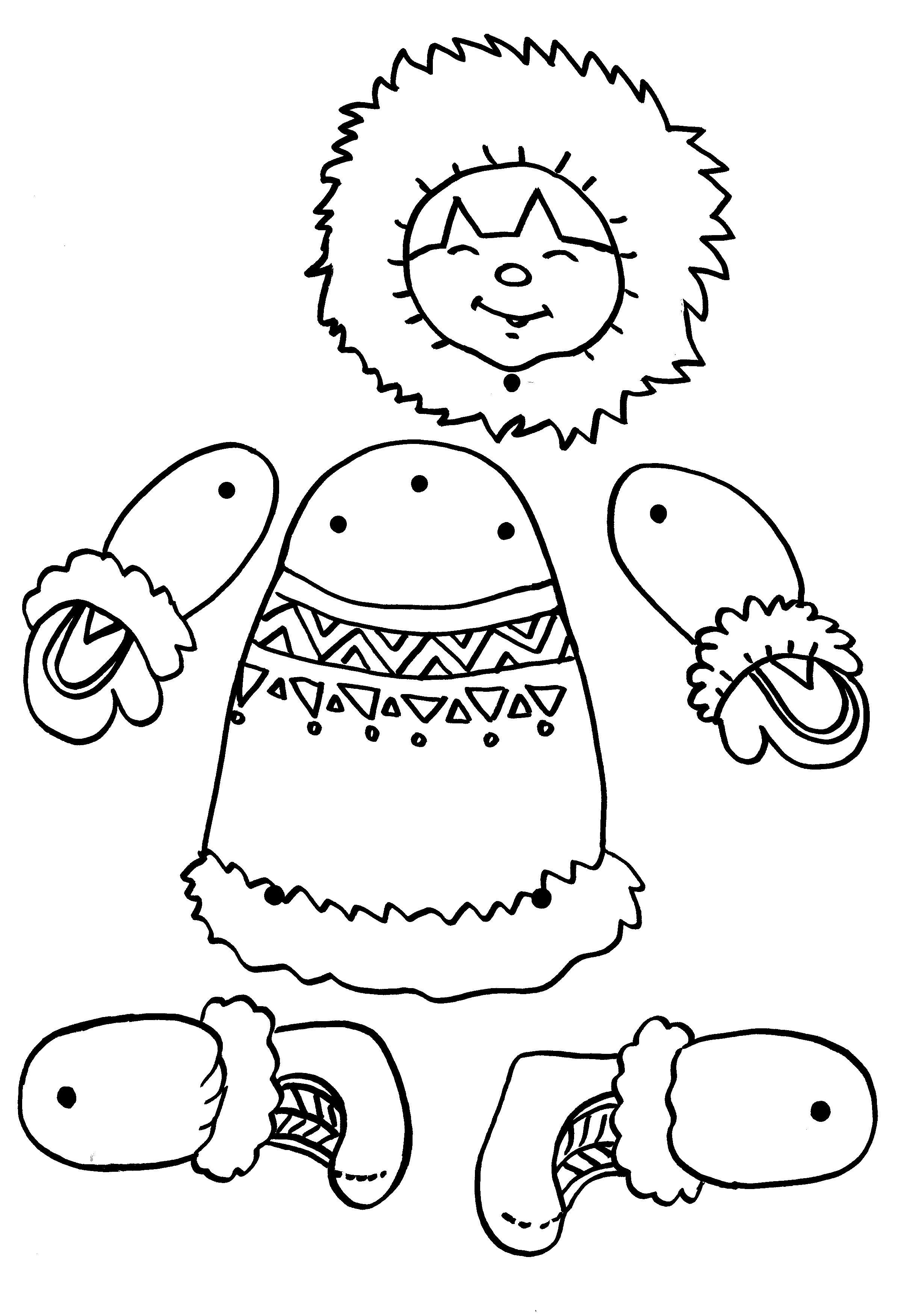 Activite monter un esquimau mobile avec des attaches - Esquimau dessin ...