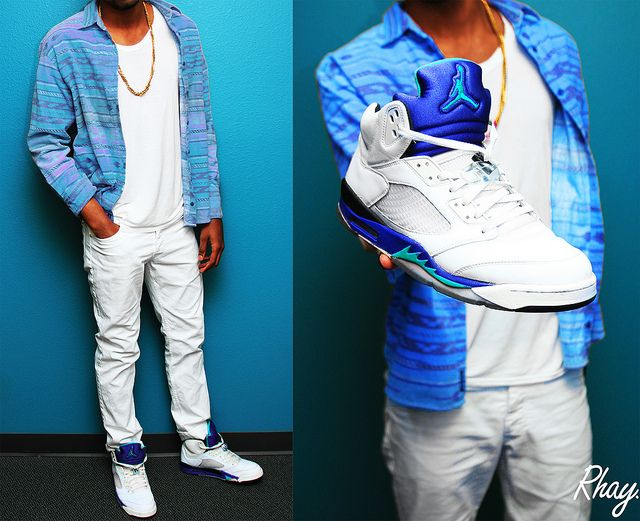 Air Jordan Retro 5 Grape Outfit #SoleCollector #Sneakers #Retro #Nike #Shoes