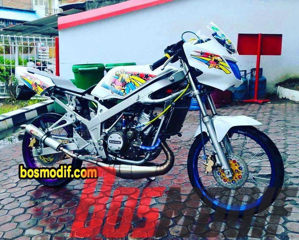 Modifikasi Motor Kawasaki Ninja Rr Putih Jari Jari Keren