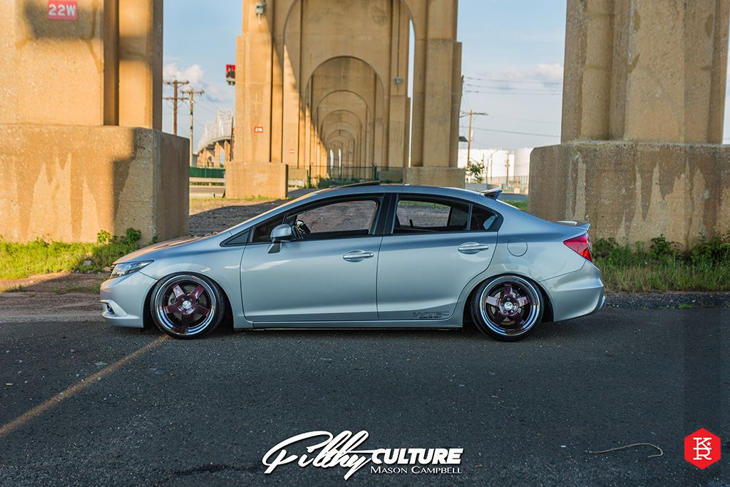 Klutch Wheels SL5 with custom painted center on 2013 Honda Civic Si Sedan