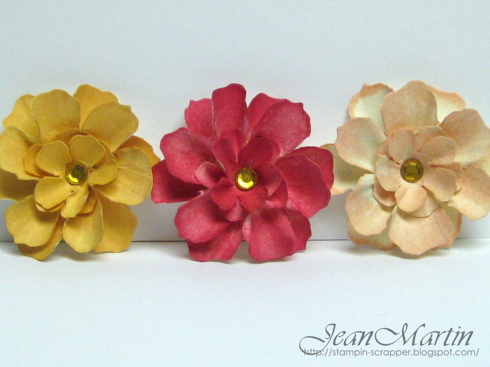 Handmade Flowers Stampin Scrapper Handmade Paper Flowers